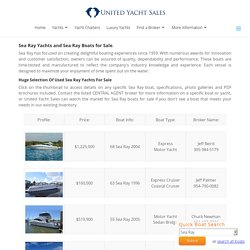 Used Sea Ray Yachts For Sale - SeaRay Boats