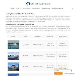 Used Sea Ray Yachts For Sale - SeaRay Boats
