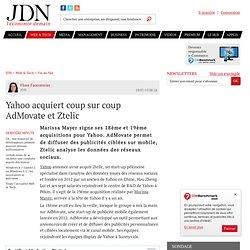 Yahoo acquiert coup sur coup AdMovate et Ztelic
