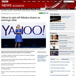 Yahoo to spin-off Alibaba shares as earnings slide