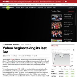 Yahoo begins taking its last lap