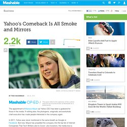Yahoo's Comeback Is All Smoke and Mirrors