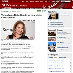 Yahoo hires Katie Couric as new global news anchor