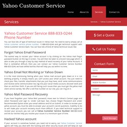 """888-833-0244"" Yahoo Customer Service Phone Number"