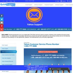 Yahoo Customer Service 1-855-777-5686 Phone Number