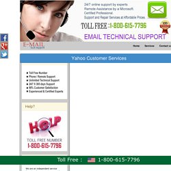 1-800-615-7796 Yahoo Mail Customer Service Phone Number