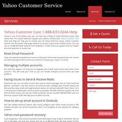 "Yahoo Customer Care ""888-833-0244"" Email Support Number"