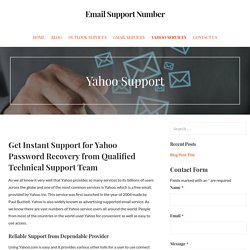 Yahoo Customer Support Number 1-844- 647-9751 Yahoo Toll Free Number USA