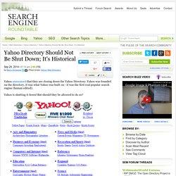 Yahoo Directory To Go Offline