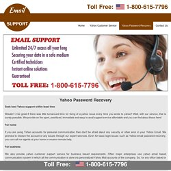 1-800-615-7796 Yahoo password recovery yahoo password reset