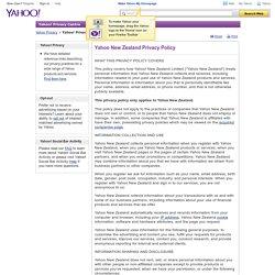 Yahoo! Privacy Centre