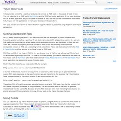Create RSS Feeds for Yahoo