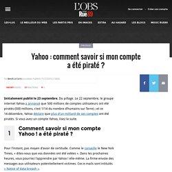 Yahoo: comment savoir si mon compte a été piraté?