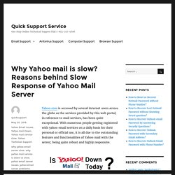 Why yahoo mail server is down or slow?