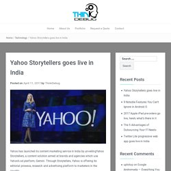 Yahoo Storytellers goes live in India