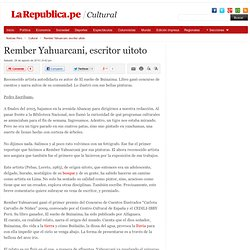 Rember Yahuarcani - escritor uitoto