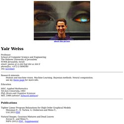 Yair Weiss home page