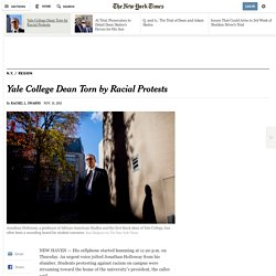 Yale College Dean Torn by Racial Protests