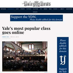 Yale's most popular class goes online