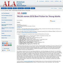 YALSA names 2016 Best Fiction for Young Adults