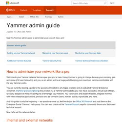 Yammer admin guide