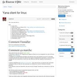 Yana client for linux - La taverne d'Idle