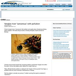 Yangtze river 'cancerous' with pollution