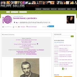 Dossier sur le roman « Jan Karski » de Yannick Haenel