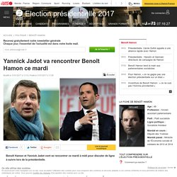 Yannick Jadot va rencontrer Benoît Hamon ce mardi