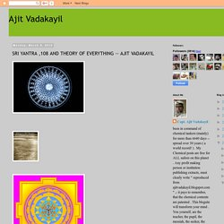 Ajit Vadakayil: SRI YANTRA ,108 AND THEORY OF EVERYTHING