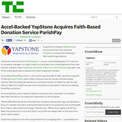 Accel-Backed YapStone Acquires Faith-Based Donation Service ParishPay