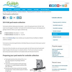Yard waste collection - City of Guelph