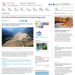Why India and China should leave the Yarlung Tsangpo alone