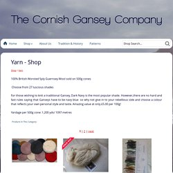 Yarn - Shop The Cornish Gansey Company