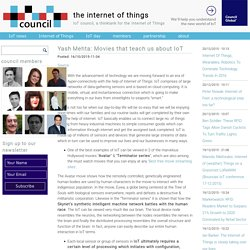 Yash Mehta: Movies that teach us about IoT