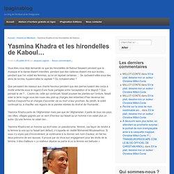 Yasmina Khadra et les hirondelles de Kaboul...
