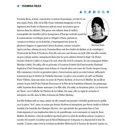 Biographie de Yasmina Reza - republique-des-lettres.fr