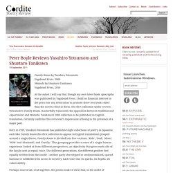 Peter Boyle Reviews Yasuhiro Yotsumoto and Shuntaro Tanikawa