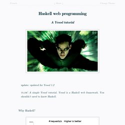 Haskell web programming