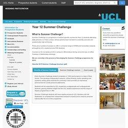 Year 12 Summer Challenge