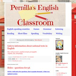 Pernilla's English Classroom: year 9