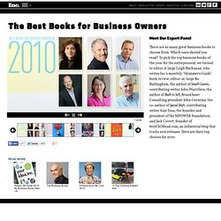 The Year's Best Books for Business Owners