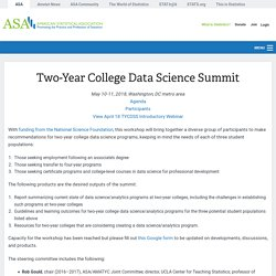 Two-Year College Data Science Summit