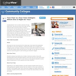 Two-Year vs. Four-Year Colleges: Which One is Right for You?