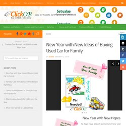 New Year with New Ideas of Buying Used Car for Family