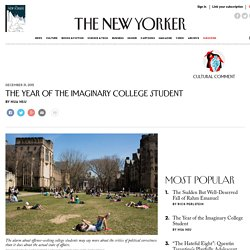 The Year of the Imaginary College Student