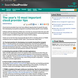 The top 10 cloud provider tips of 2013