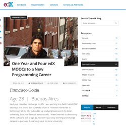 One Year and Four edX MOOCs to a New Programming Career