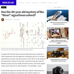 """Has the 40-year old mystery of the """"Wow!"""" signal been solved?"""