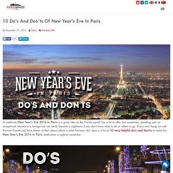 10 Do's And Don'ts Of New Year's Eve In Paris